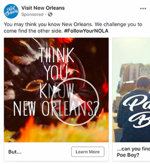 Facebook consideration ad example